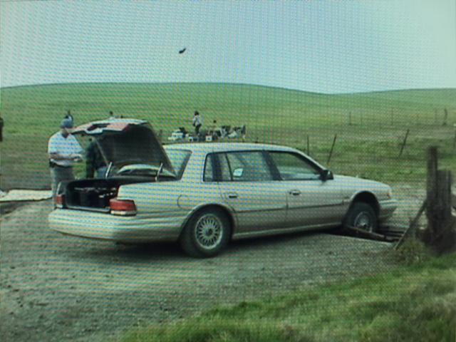 2. Crash car in cattle guard.....