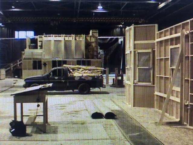 Multiple sets on large sound stage