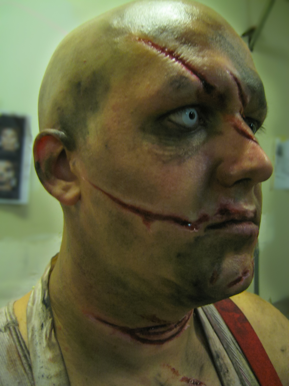 Christina Cofran, Special FX, Makeup Artist, injury, laceration, cut, accident, busted lip, butcher 001.jpg
