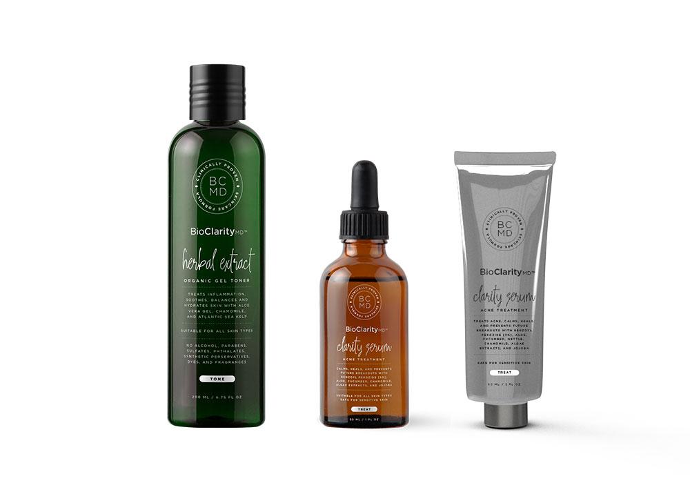 Gel Toner, Acne Treatment (Regular), & Acne Treatment (For Sensitive Skin)