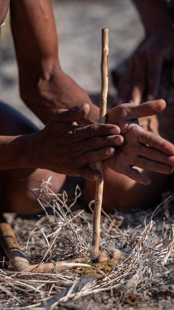 San Bushman, Central Kalahari, Botswana.