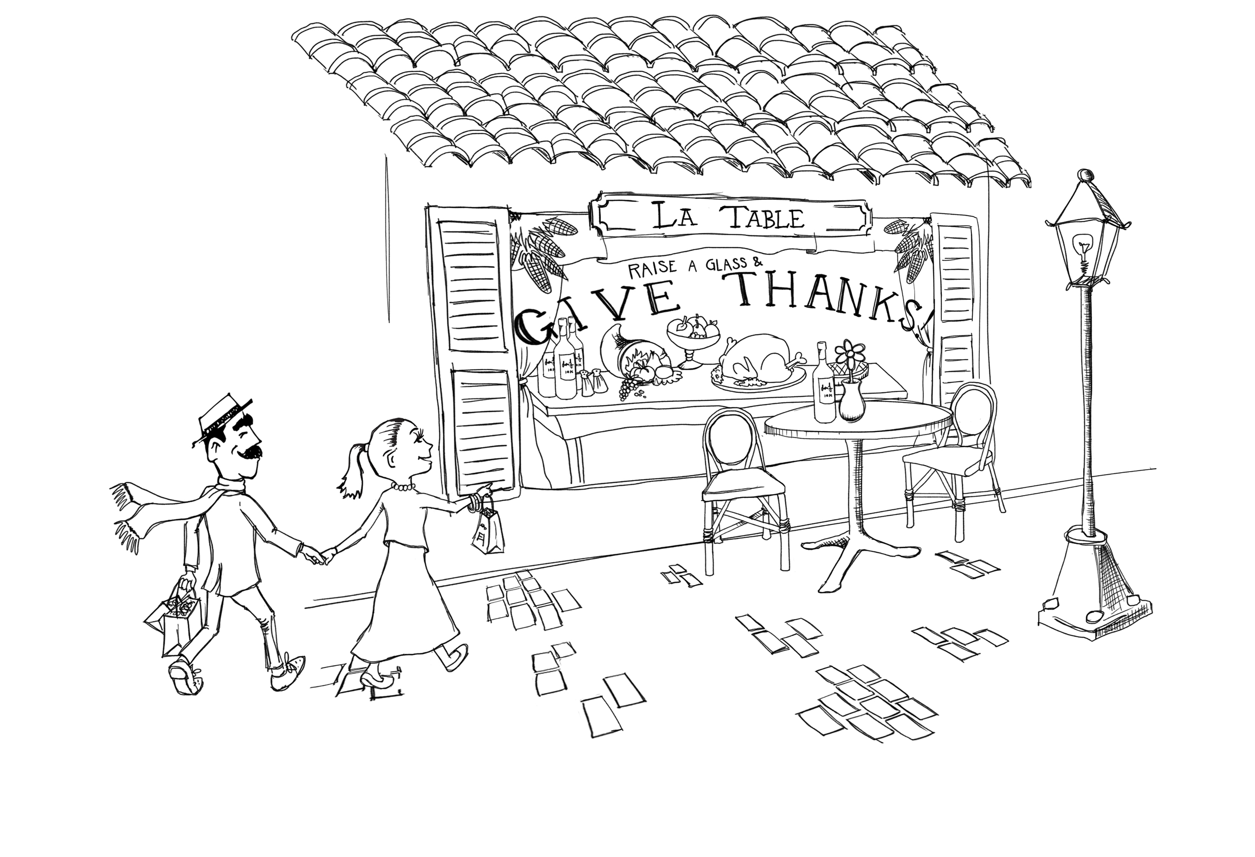 Thanksgiving postcard for Cultivate Wines
