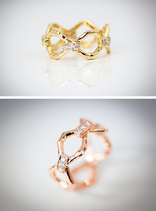 Ring design, made in 18k yellow and pink gold