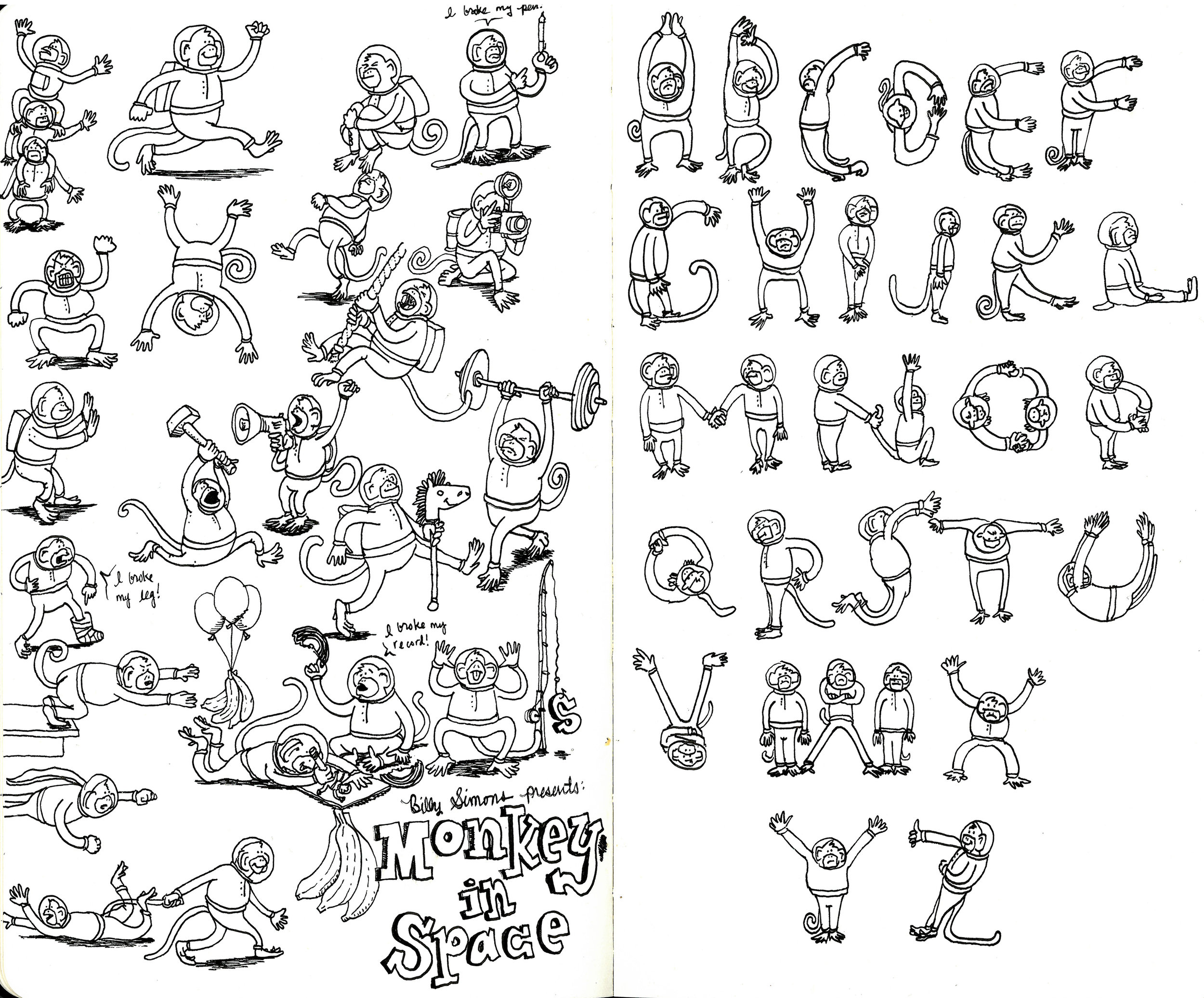 billy simons monkeys in space alphabet