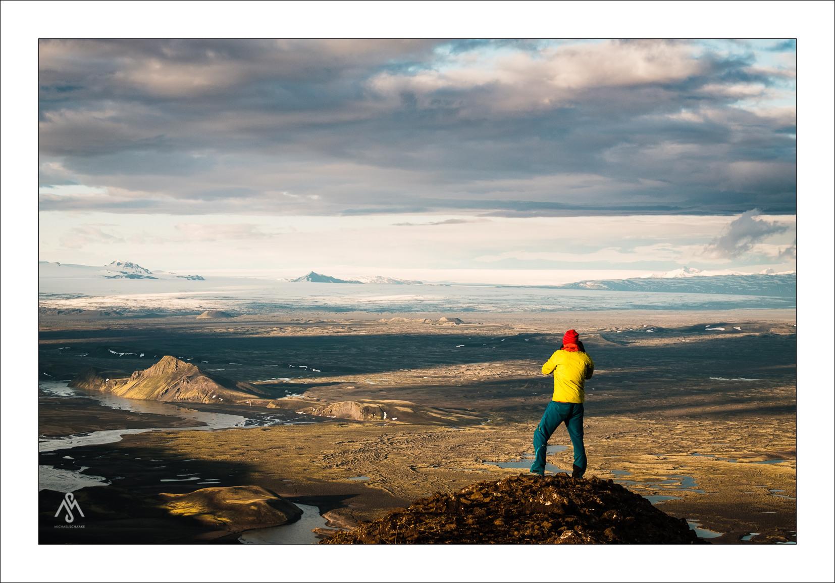Aussicht vom Sveinstindur in Richtung Vatnajökull