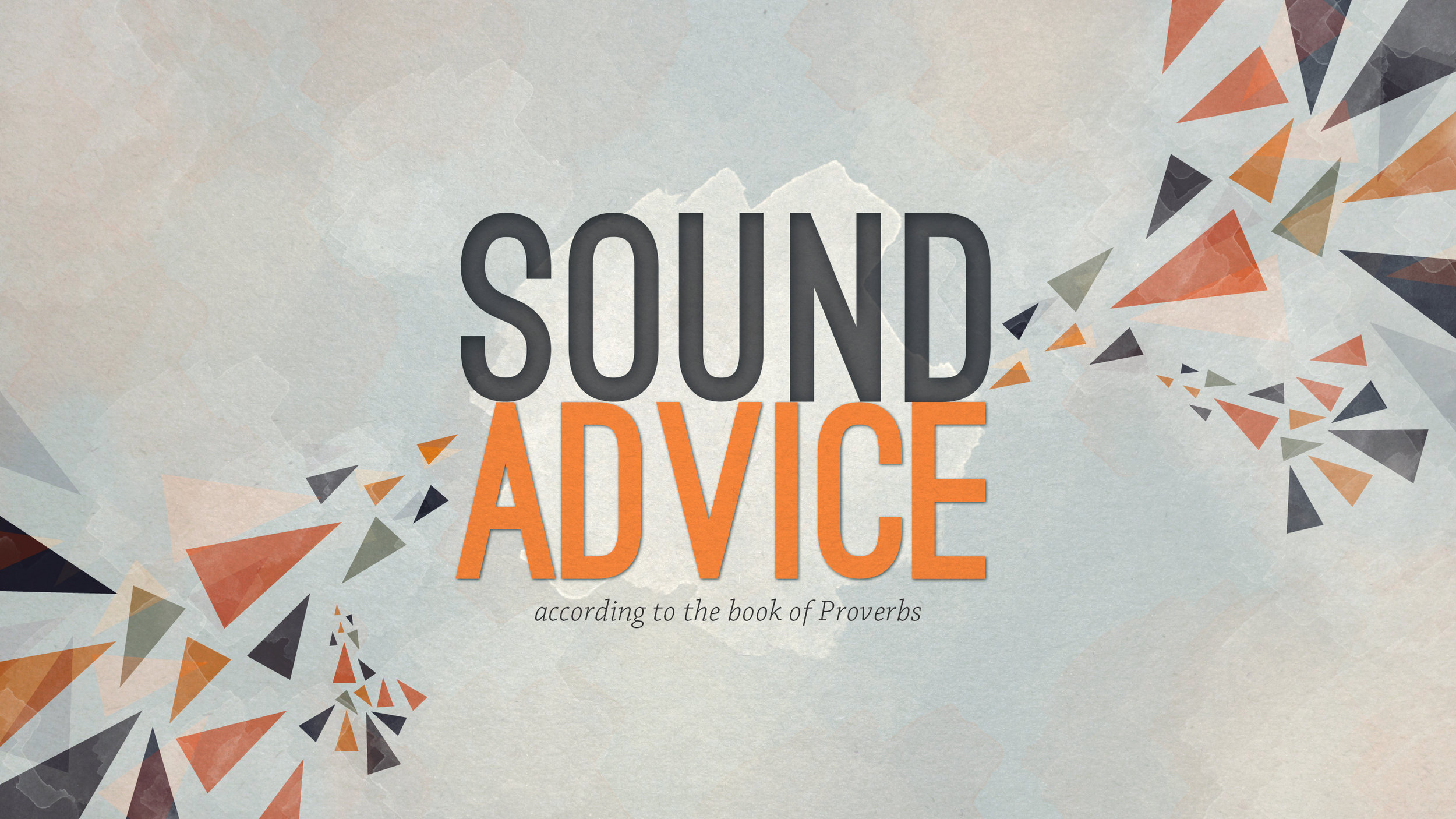 Part 1 -- Introduction to Proverbs  9/4/16