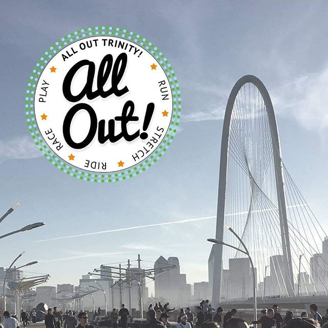 To take advantage of the clear skies early tomorrow, the start time for All Out Trinity Outdoor Market has been moved to 9am Saturday morning.  Join us at the Ronald Kirk Pedestrian Bridge to cheer on the racers in the 15th Annual Trinity River Levee Run and stay for the block party that follows.  A handful of our best vendors will brave the weather and add their unique wares to an already packed schedule. Come out for a family friendly event full of salsa dancing, yoga, running, cycling, food, and of course shopping.  Put on your most fashionable (and warm) jacket and show your local spirit by supporting this amazing event!
