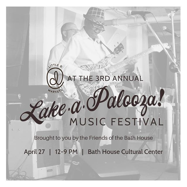 Join us this Saturday, April 27, for the third annual Lake-a-Palooza at the Bath House Cultural Center from 12 - 9 pm! From dancing to live local music to shopping hand-crafted jewelry to unique leather goods to snacking on artisan foods, there is something for the whole family at Lake-a-Palooza! Don't miss out on this celebration of local on a beautiful day with clear skies at White Rock Lake!