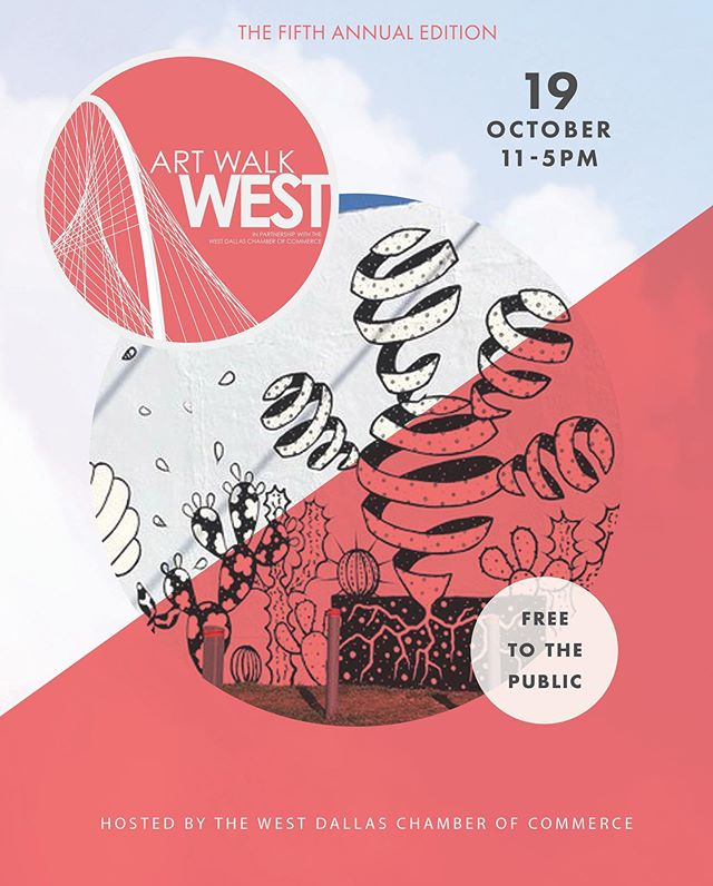 Join us and the West Dallas Chamber of Commerce for the 5th Annual Art Walk West this Saturday 10/19 from 11am-5pm! Little D Markets will be popping up at Trinity Groves!  Go on a self guided tour to explore the vibrant creative movement in West Dallas! Shop your local vendors, see live mural paintings, check out open studios and galleries, and participate in interactive activities programmed by @attpac.  Find out more details in bio!