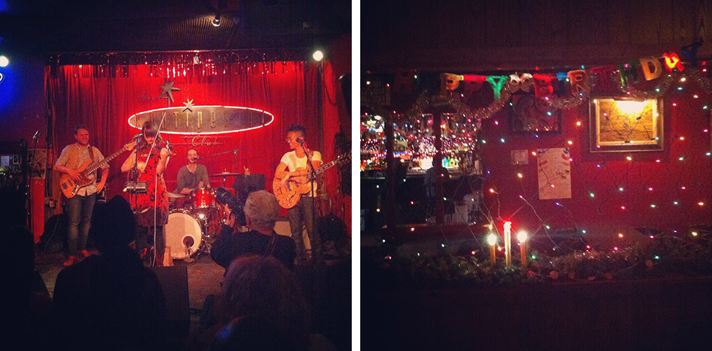 some amazing music, and some WEIRD ASS BARS- although, I do love Christmas year round, LaLa's.