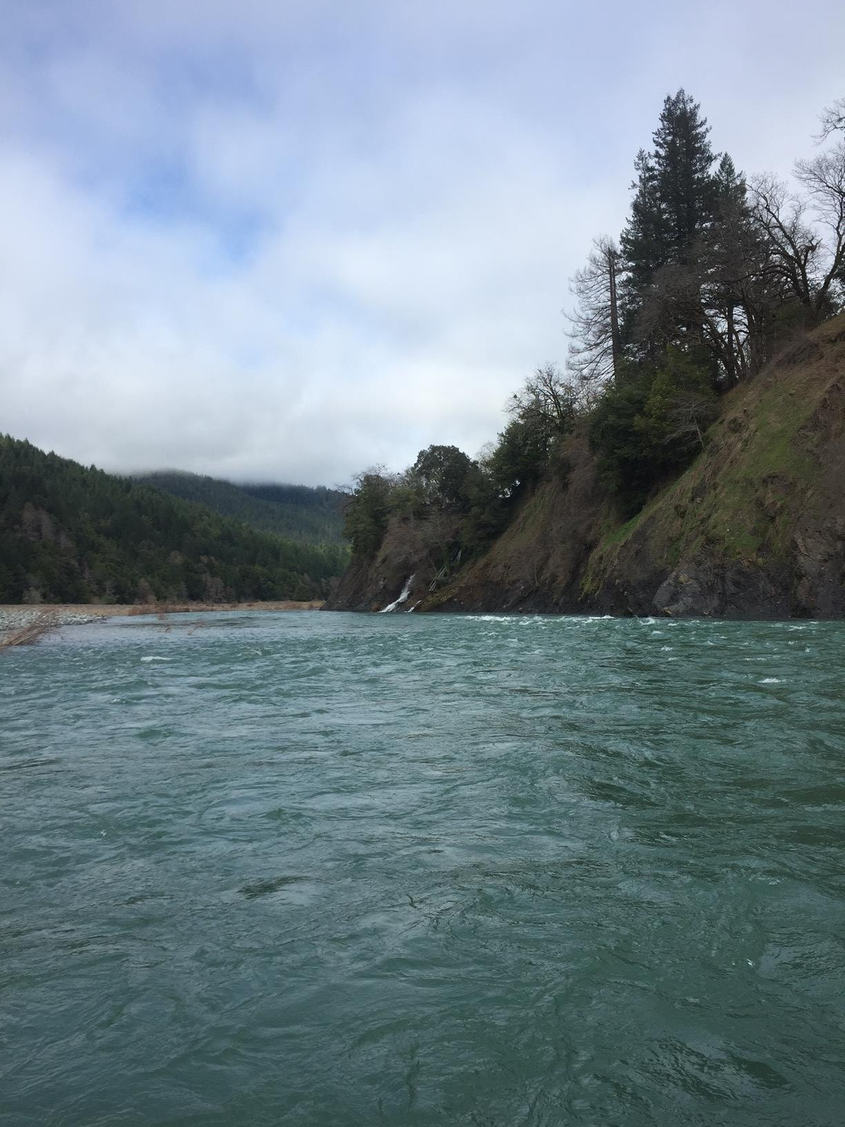 A costal Oregon river. Photography by Max Salzburg of Sonja K Photography.