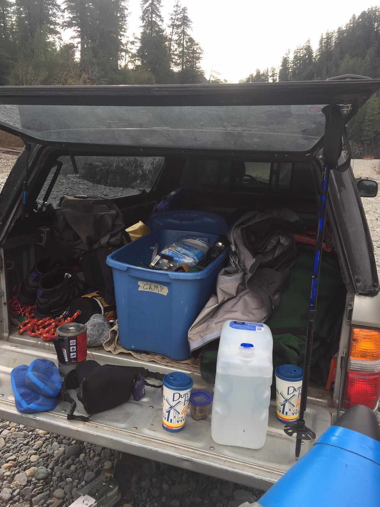 The back of the truck after a fishing trip. Photography by Max Salzburg of Sonja K Photography.