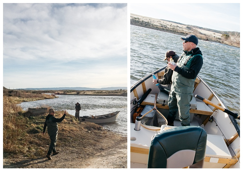 First breakfast burrito while getting ready to float the Grey Reef on the North Platte River near Alcova, Wyoming. Fishing photography by Max Salzburg of Sonja K Photography.