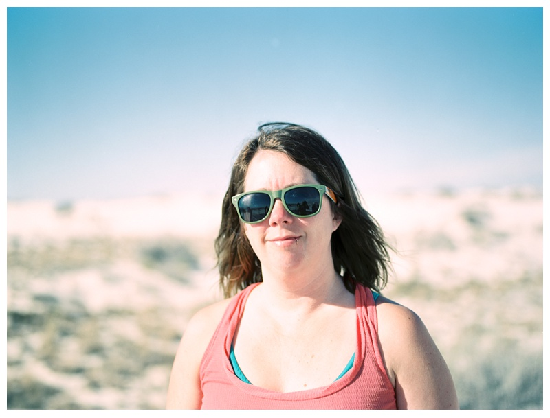 Sonja Salzburg at White Sands National Monument in New Mexico.Portrait photography by Max Salzburg of Sonja K Photography.