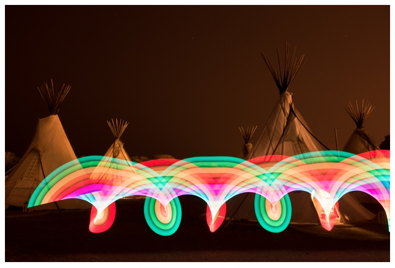 Light painting at El Cosmico in Marfa, Texas. Travel photography by Sonja Salzburg of Sonja K Photography.