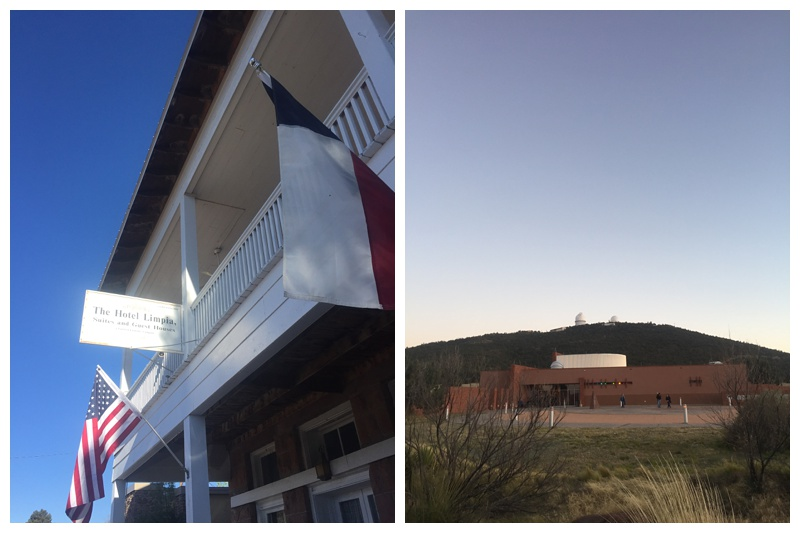 The hotel Limpia and the McDonald Observatory. Travel photography by Max Salzburg of Sonja K Photography.