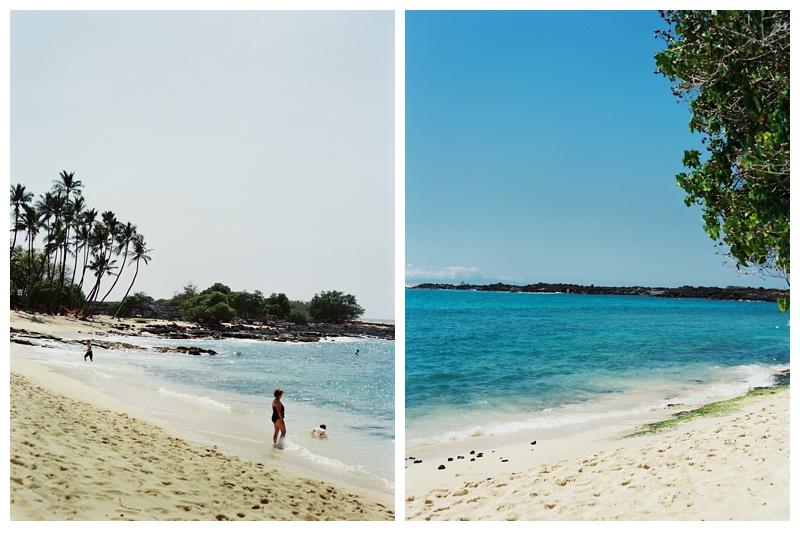 Makalawena Beach on the Big Island of Hawaii. Travel film photography by Sonja Salzburg of Sonja K Photography.