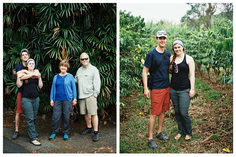 Portraits taken at a Kona Coffee farm on the Big Island of Hawaii. Travel film photography by Sonja Salzburg of Sonja K Photography.