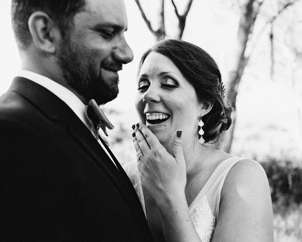 Black and white wedding photography by the Lantern Room.