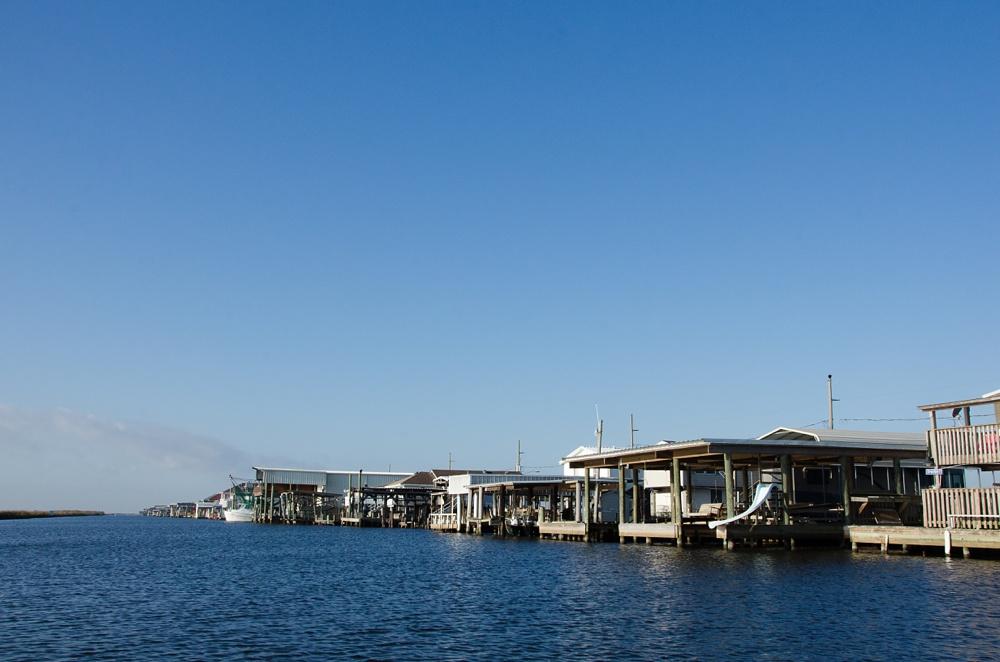 Happy Jack Marina at Port Sulphur, Louisiana. Travel fly fishing photography by Max Salzburg of Sonja K Photography.