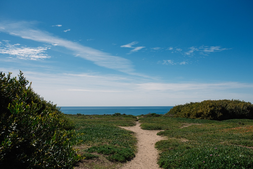 The view at Fort Funston outside of San Francisco, California. Travel photography by Sonja Salzburg of Sonja K Photography.