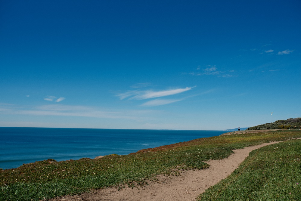 The view from Fort Funston outside of San Francisco, California. Travel photography by Sonja Salzburg of Sonja K Photography.