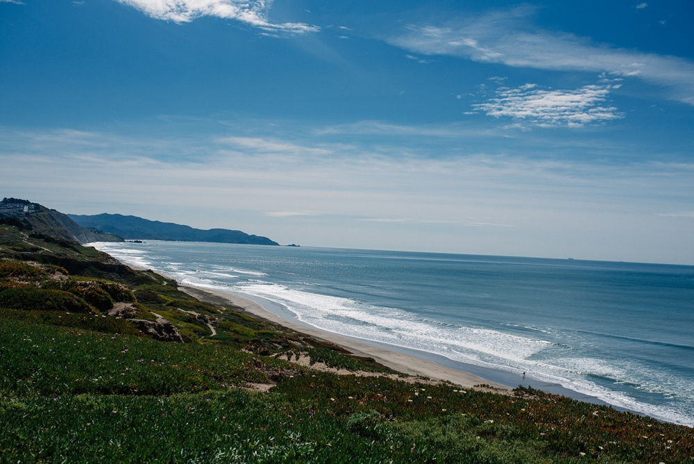 The beach at Fort Funston outside of San Francisco, California. Landscape travel photography by Sonja Salzburg of Sonja K Photography.
