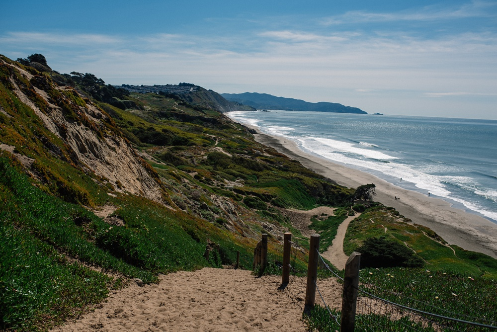 The beautiful California coast at Fort Funston outside of San Francisco, California. Travel photography by Sonja Salzburg of Sonja K Photography.