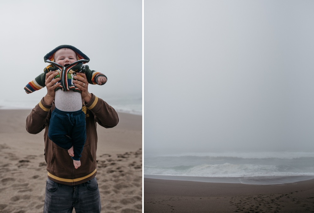 Max and Theo at Point Reyes National Seashore in California. Family travel portrait photography by Sonja Salzburg of Sonja K Photography.