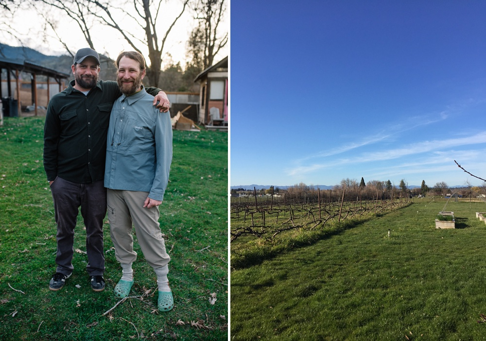Max and Charles in Talent, Oregon. The EdenVale Winery outside of Medford, Oregon. Travel, food and beverage, and portrait photography by Sonja Salzburg of Sonja K Photography.