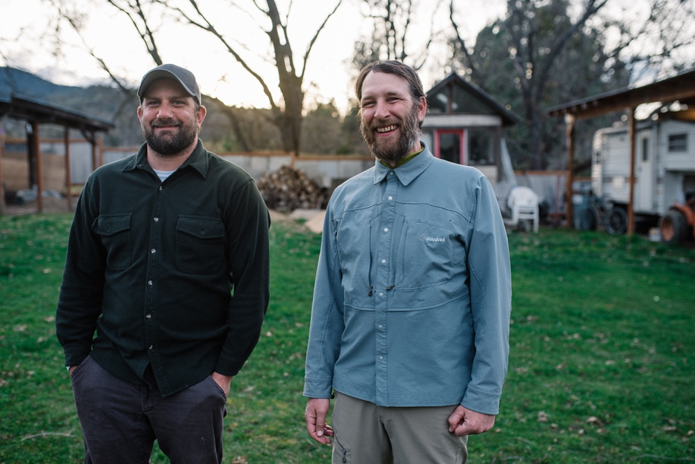 Max and Charles in Talent, Oregon. Travel portrait photography by Sonja Salzburg of Sonja K Photography.