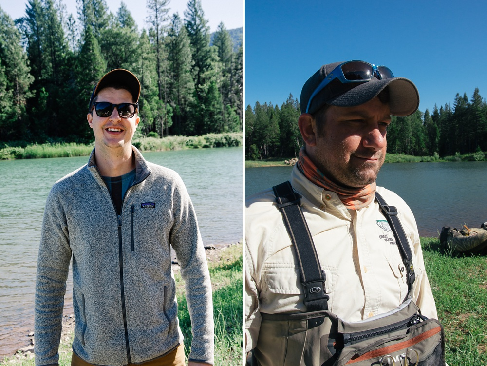 Two of the newest FADE members at Big Lake at Henderson Springs, California. Fly fishing travel portrait photography by Max Salzburg of Sonja K Photography.