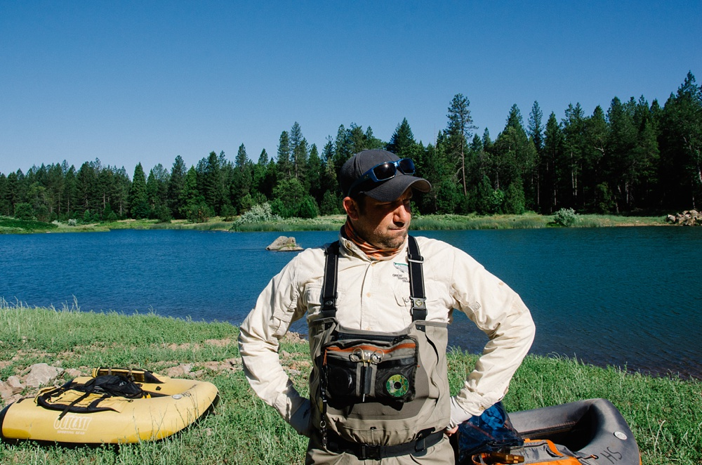 A FADE participant at Henderson Springs Ranch in California. Fly fishing destination travel photography by Max Salzburg of Sonja K Photography.