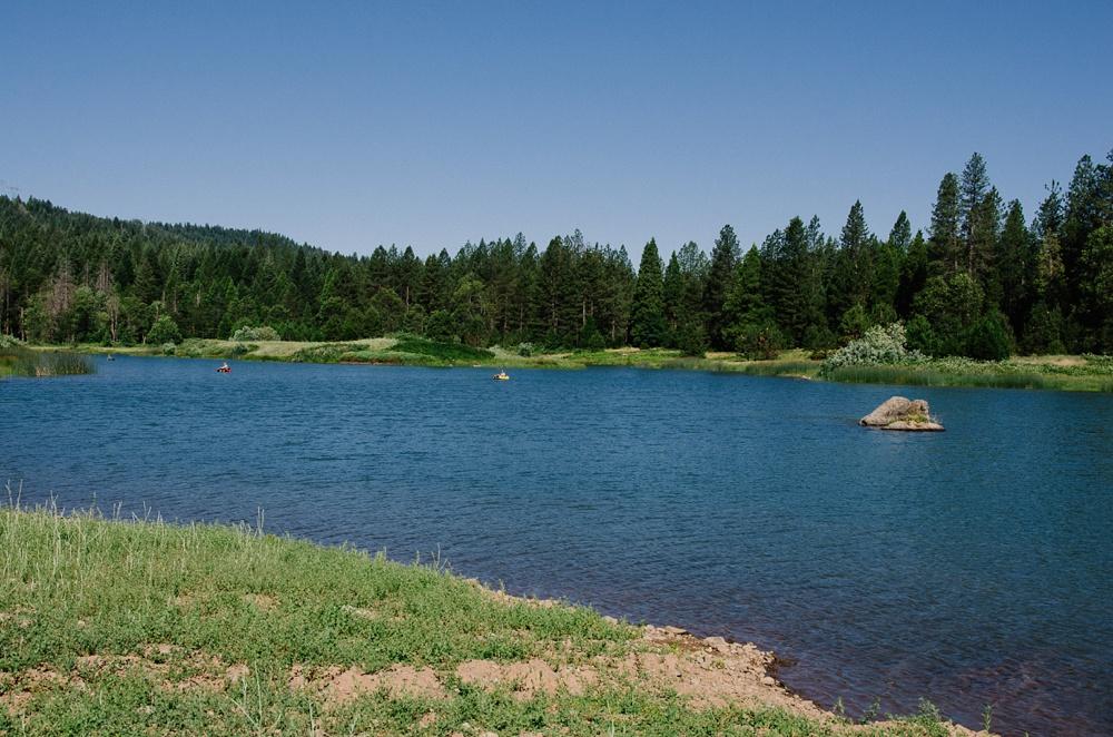 Big Lake at Henderson Springs Ranch near Big Bend, California. Fly fishing photography by Max Salzburg of Sonja K Photography.