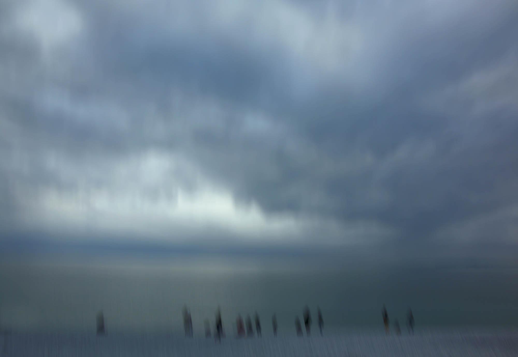 Winter sea shore in Nice, 2014