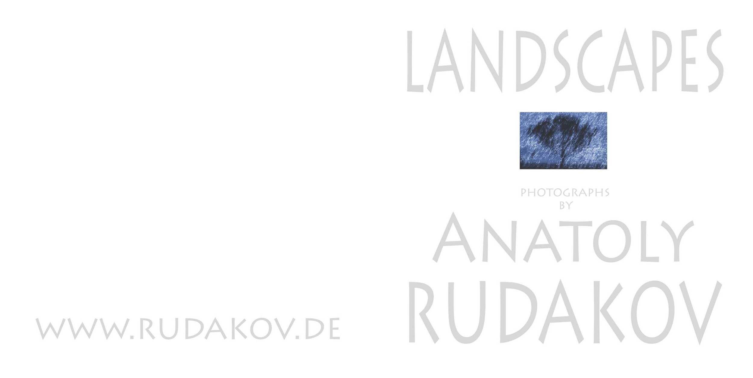 Front page, Landscape Catalogue, 2014