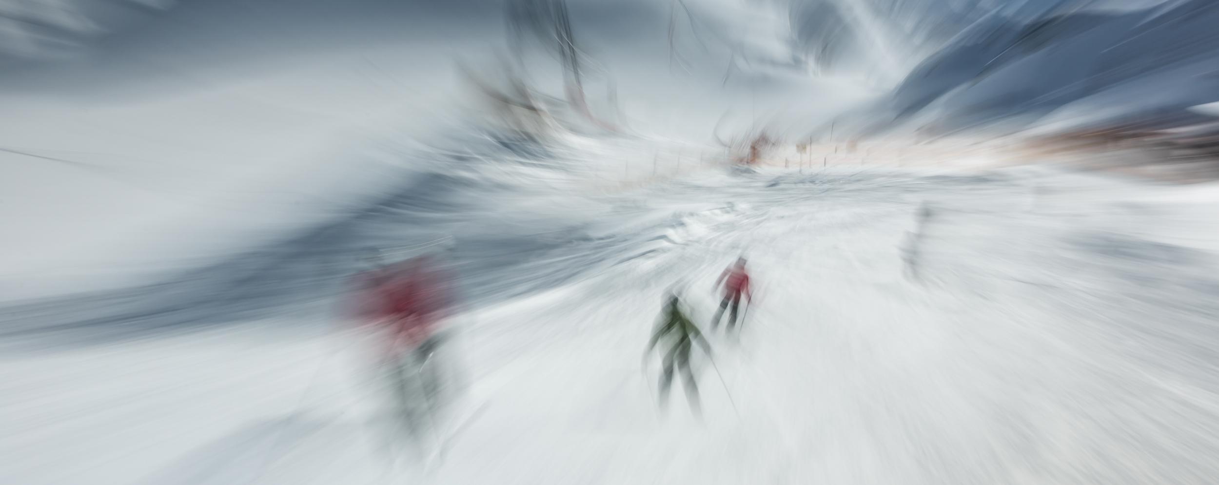 Ski piste on Stubai Glacier, 2013