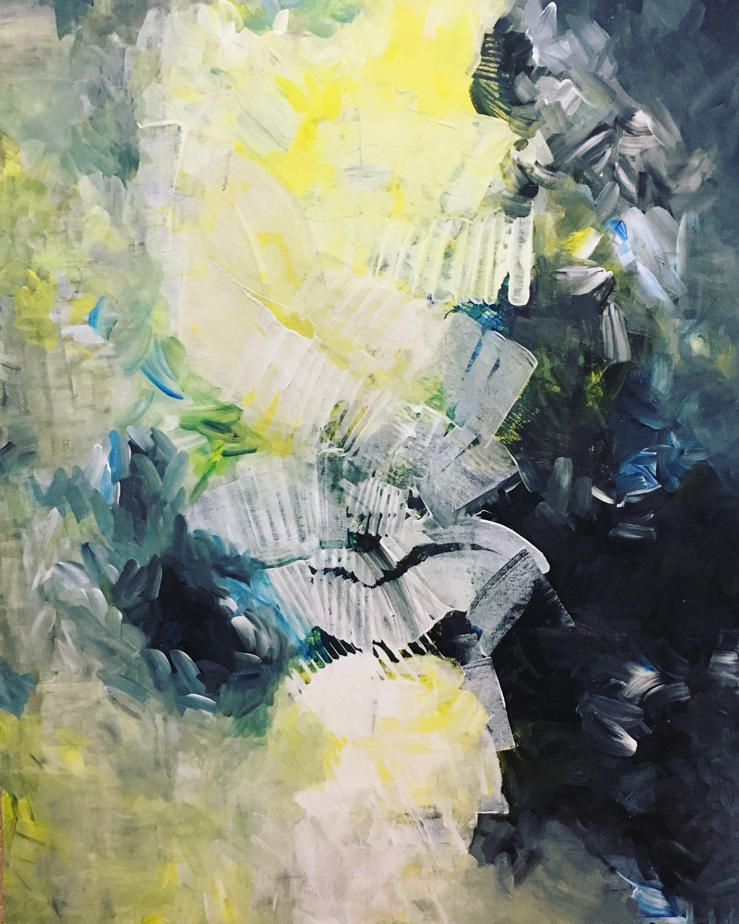 "Acrylic Paintings on 24"" x 36"" Canvas 2018"