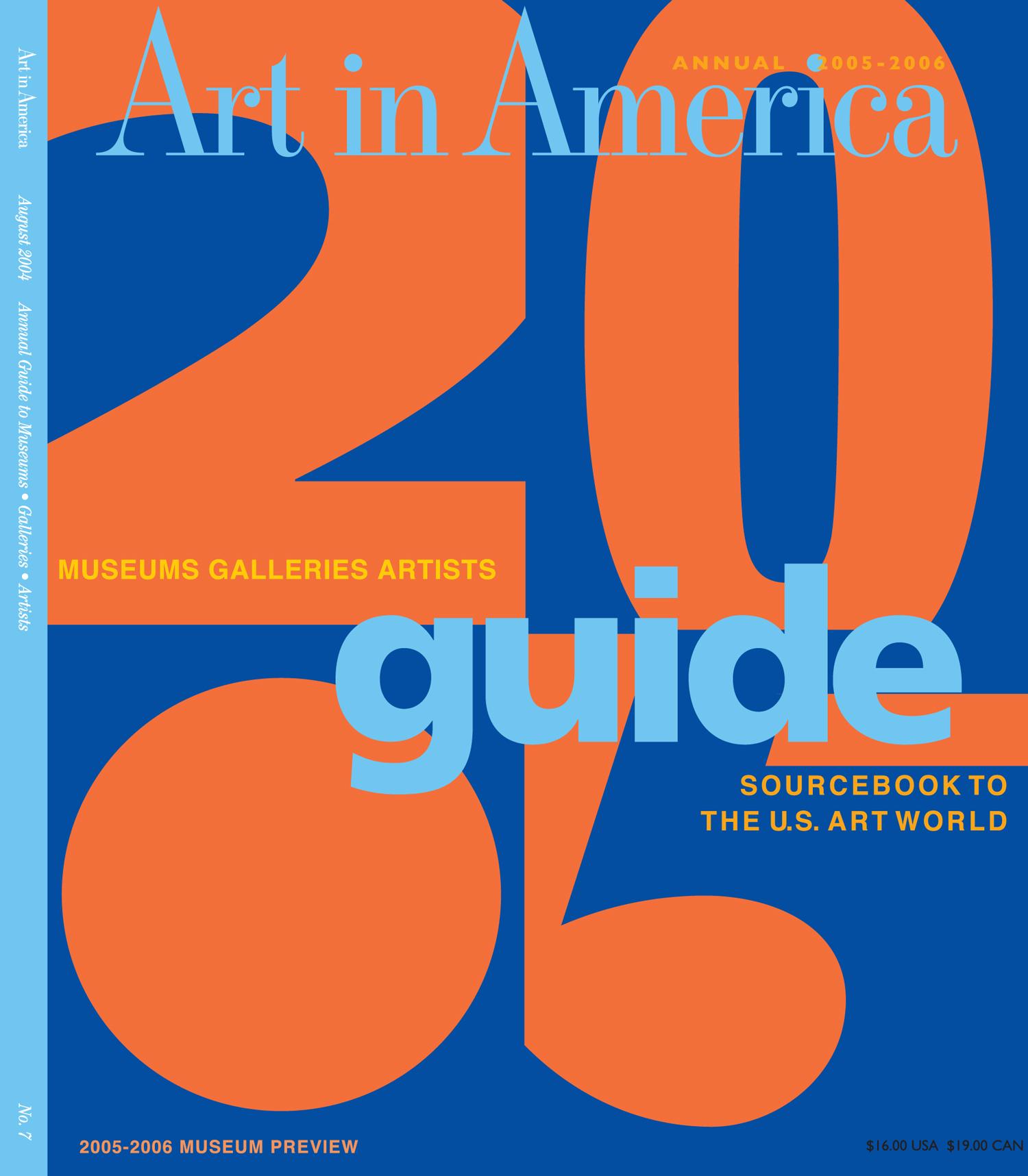 Art in America 2005 Guide Cover