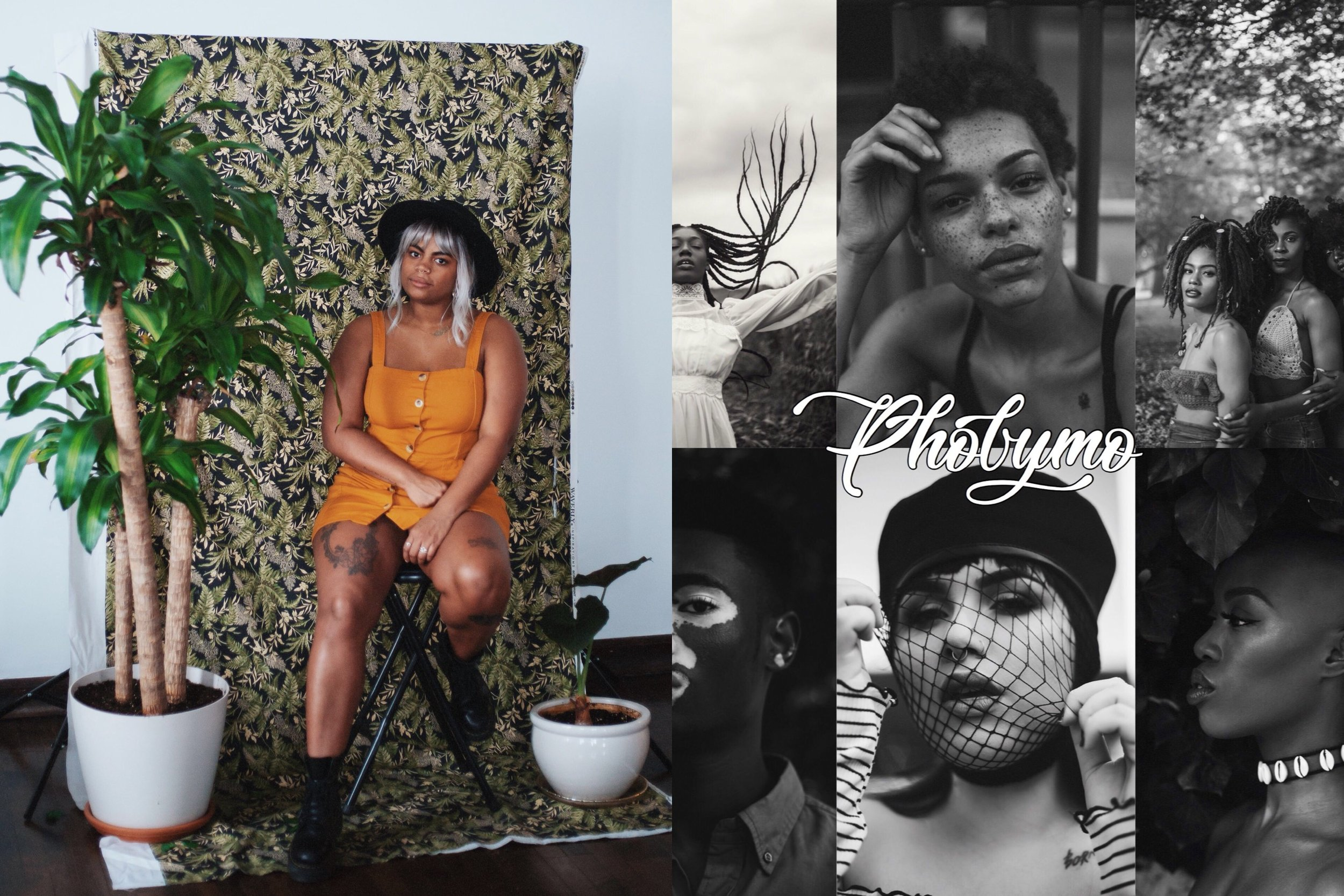 Phobymo - Phobymo (Morgan Smith) is a self taught black female photographer from Philly. Her photography focuses on celebrating diverse bodies & capturing the beauty and strength of women of all races, sizes and ages. Her main goal is to empower and inspire women with her work. In addition to photography, and in line with her main goal, she also curates and hosts a biannual all women's art showcase called Time To Pretend.
