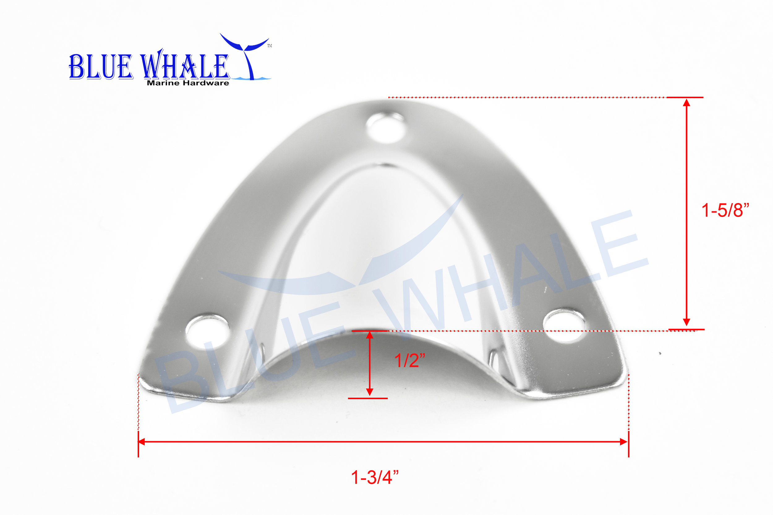 Boat Marine Stainless Steel Mini Clam Shell Vent Great for Wiring 1-3//4 X 1-5//8