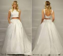 Crop Top Bridal| Theia Bridal
