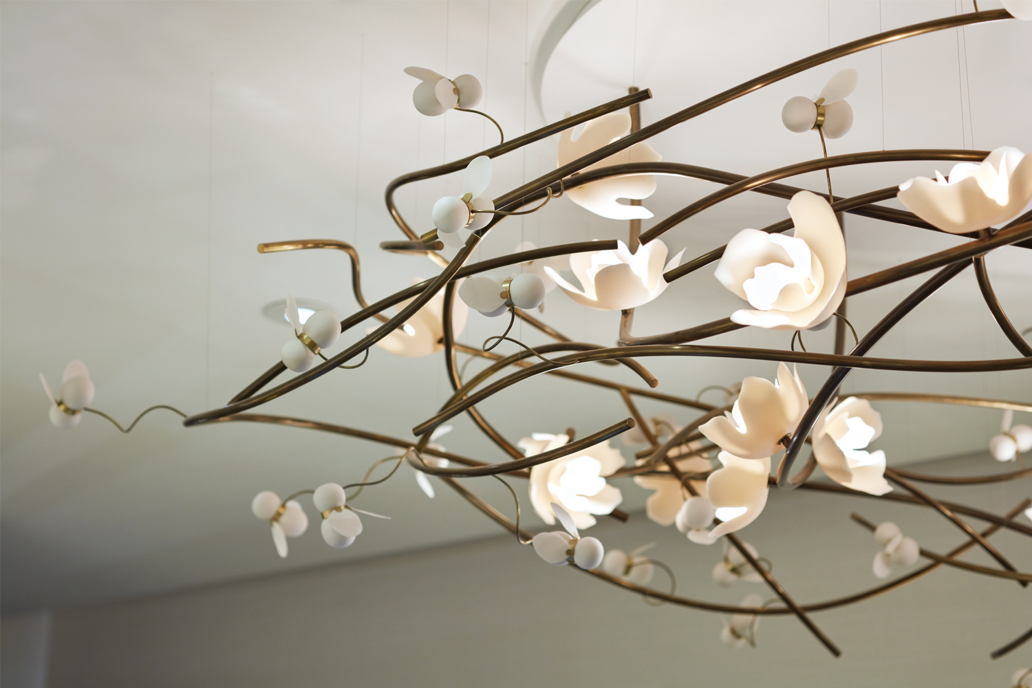 Bee and Flower Chandelier