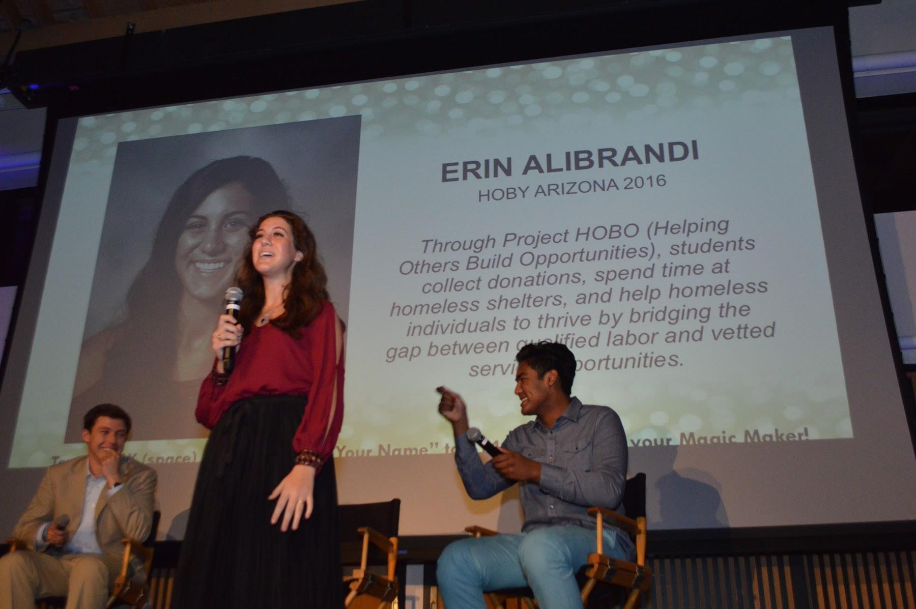 Erin Alibrandi presents at HOBY International's Magic Makers