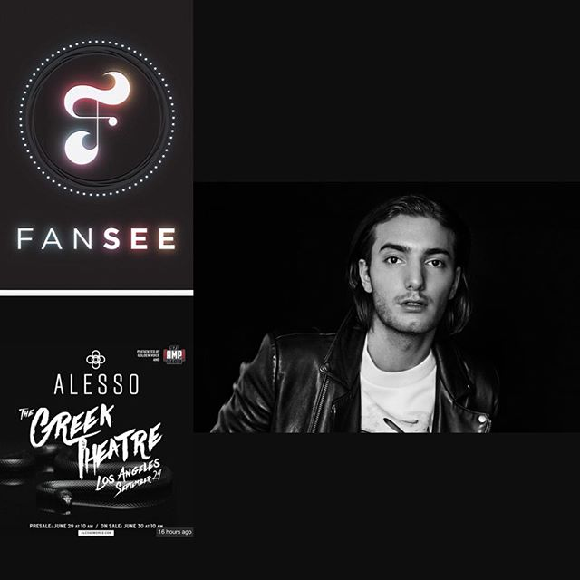 It's FREE! Download @fanseeapp for all your favorite shows and events! Catch one of our favorite artists @alesso live at The Greek September 24th!