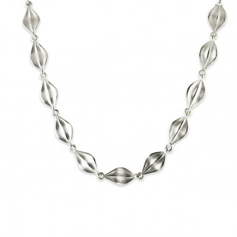 """Sterling Leaf 17"""" Necklace  Sku: 770-02699 Retail 320.00"""