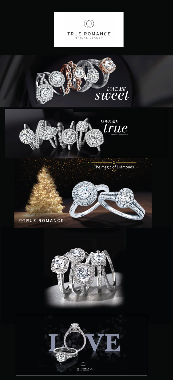 Siegel Jewelers True Romance Engagement rings