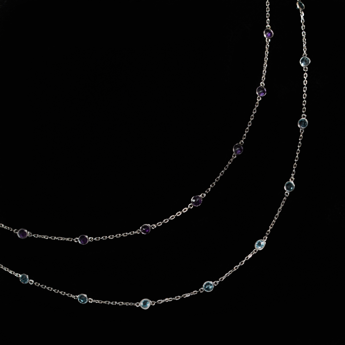100 special August 19 Amethyst or Blue Topaz sterling station necklace  .jpg