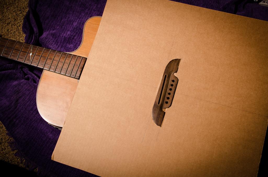 Final fitting of the cardboard heat shield.