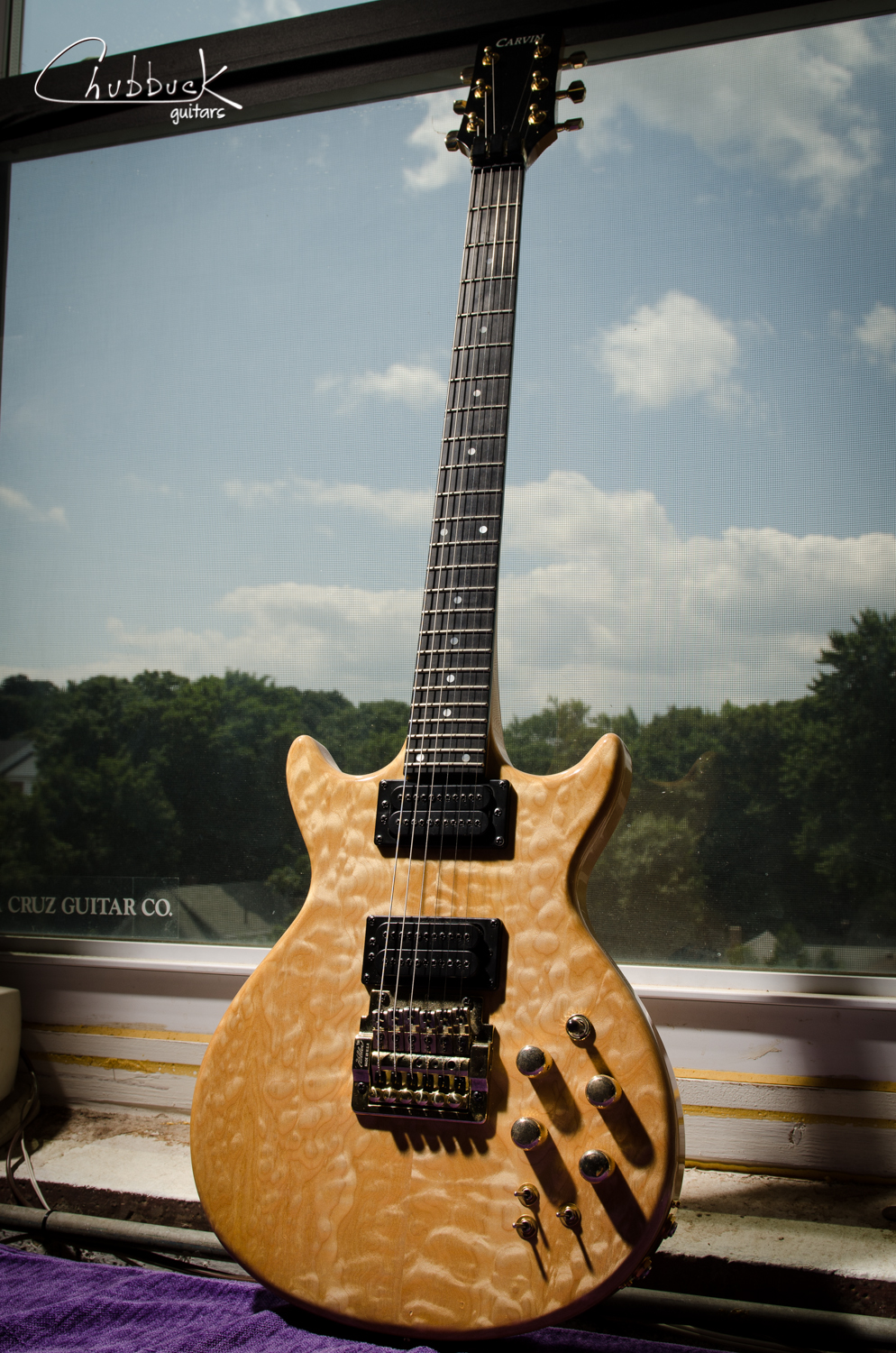 Solid two-piece quilted maple body.